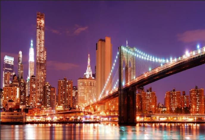 5x7FT San Francisco Skyline Night Rivier Golden Gate Bridge Custom ...