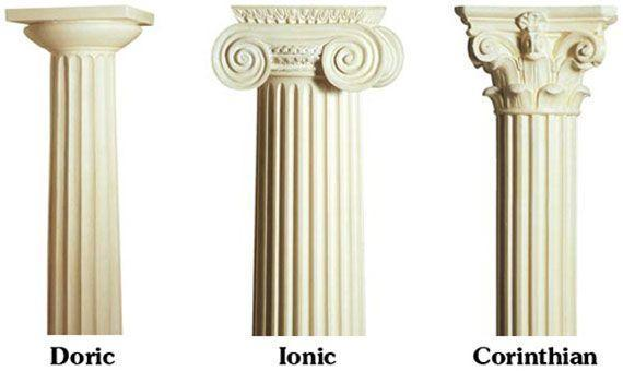 Image result for doric ionic corinthian with women hair style