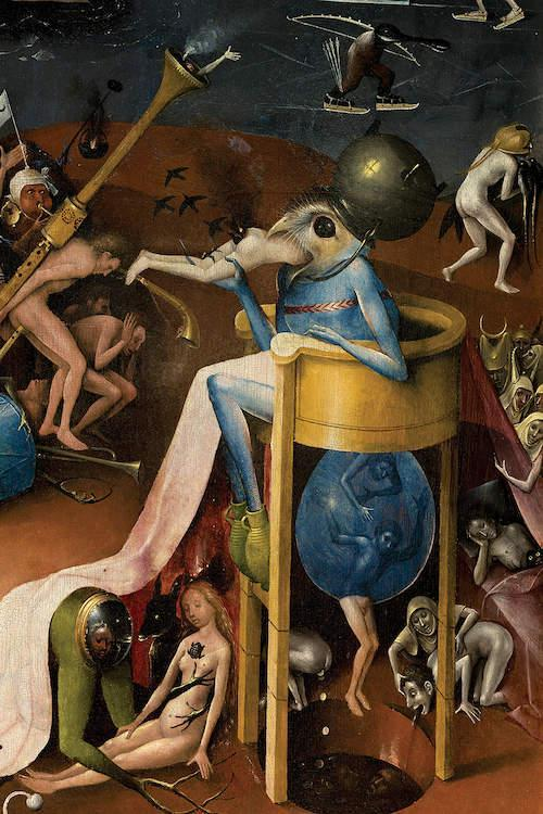 Detail Of The Prince Of Hell, The Garden Of... | Hieronymus Bosch ...
