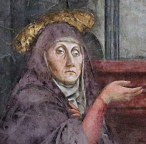 Masaccio 'The Holy Trinity' detail: face Mary Santa Maria Novella