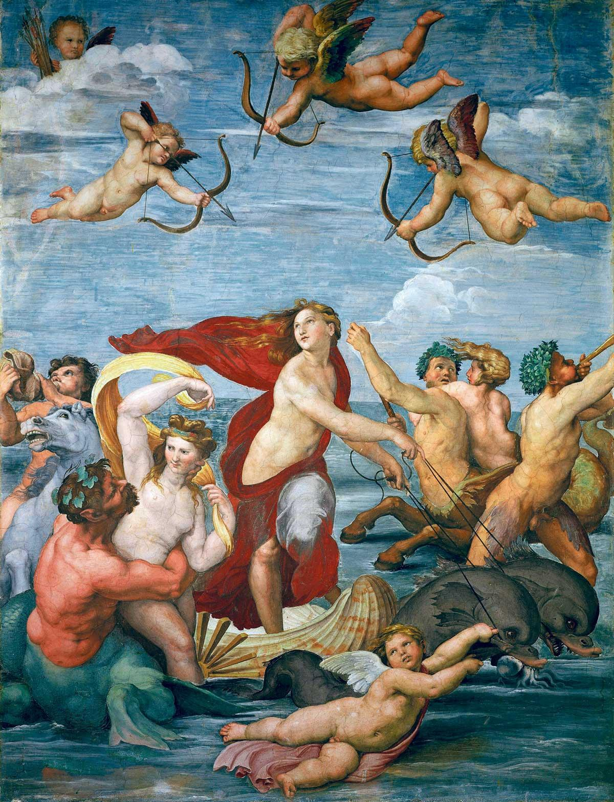 Triumph of Galatea, c.1512, by Raffaello Sanzio da Urbino (Raphael), Villa Farnesina, Rome © Getty Images.